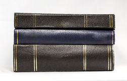 Stack of Hardback Books - Horizontal. A stack of hardback book in horizontal position on white background royalty free stock images