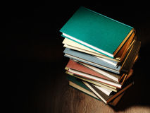 Stack of hardcover books Royalty Free Stock Photo