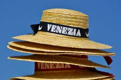 Stack of hats for Venetian gondolier Stock Image