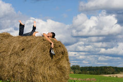 Stack hay Royalty Free Stock Image