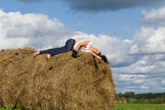 stack hay Stock Images