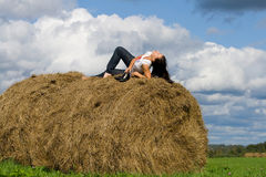 Stack hay Royalty Free Stock Photos