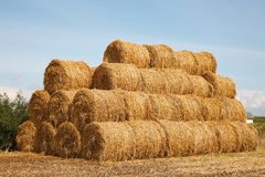 Stack of hay bales Royalty Free Stock Photos