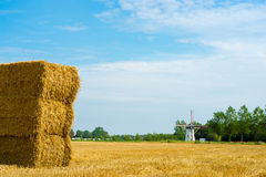 Stack of hay bales Royalty Free Stock Images