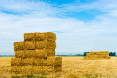 Stack of hay bales Royalty Free Stock Image