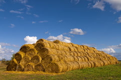 Stack Of Hay Bales. Stock Photography