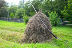 Stack of hay Royalty Free Stock Image