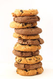 Stack of hazelnut and chocolate cookies Royalty Free Stock Photo