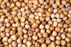 Stack of hazelnuts. Hazelnut background. royalty free stock photo
