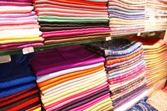 Stack of headscarfs Royalty Free Stock Image