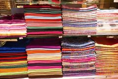 Stack of headscarfs Stock Photo