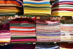 Stack of headscarfs Stock Photos