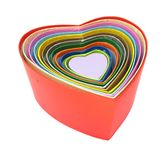 Stack of heart shaped boxes Royalty Free Stock Image