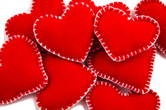 Stack of Hearts. A collection of Hearts, two stand out, shallow Depth of Field Royalty Free Stock Photography