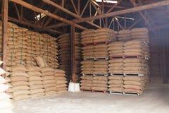 Free Stack Hemp Sacks Of Rice Royalty Free Stock Images - 38967569