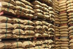 Free Stack Hemp Sacks Of Rice Royalty Free Stock Photography - 38968087