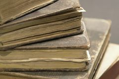 Stack of historic books Royalty Free Stock Photos