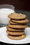 Stack of home made cookies Royalty Free Stock Photo
