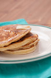 Stack of home made pancakes Royalty Free Stock Images