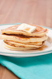 Stack of home made pancakes Royalty Free Stock Photography