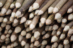 Stack of home made pens Stock Photo