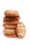 Stack of homemade chip cookie Royalty Free Stock Images