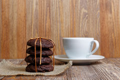 Stack of homemade chocolate chip cookies Royalty Free Stock Image