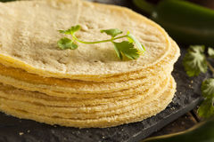 Stack of Homemade Corn Tortillas Royalty Free Stock Images