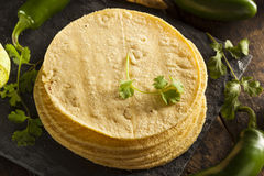 Stack of Homemade Corn Tortillas Royalty Free Stock Photos