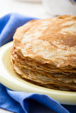 Stack of homemade crepes for brunch or dessert Royalty Free Stock Photography