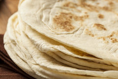 Stack of Homemade Flour Tortillas Stock Photography