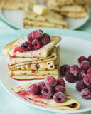 Stack of homemade pancakes Royalty Free Stock Photo