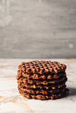 Stack of Homemade Waffles Close Up Royalty Free Stock Image