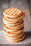 Stack of honey cookies Stock Photos