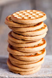 Stack of honey cookies Stock Photography