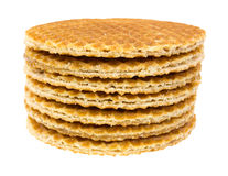 Stack of honey filled wafer cookies Stock Photo