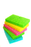Stack of household sponges Stock Photos