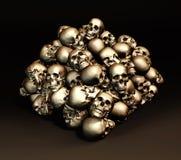 Stack of human skulls. Royalty Free Stock Image