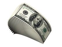 Stack of hundred dollar bills. A stack of one hundred dollar bills Royalty Free Stock Photography