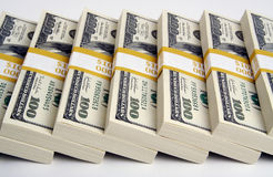 Stack of Hundred Dollar Bills Stock Photo