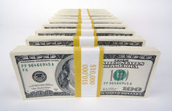 Stack of Hundred Dollar Bills Royalty Free Stock Photos