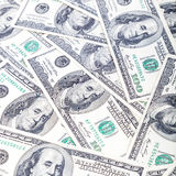 A stack of hundred-dollar bills as a background Stock Photos