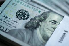 10000$ stack of hundred dollar bills royalty free stock photo