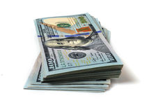 Stack of hundred dollar bills Royalty Free Stock Image