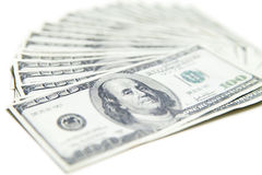 Stack of hundred dollars close-up Royalty Free Stock Photography