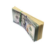 Stack of hundred dollars Stock Image