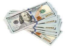 Stack of hundred dollars Royalty Free Stock Image