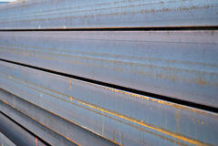 Stack of I-beams close-up Royalty Free Stock Photos