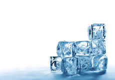 Stack of ice cubes Royalty Free Stock Images