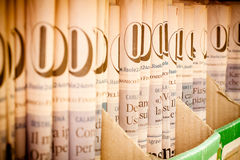 Stack of Il Sole 24 Ore Stock Photography